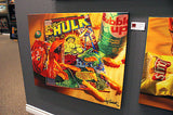 "Doug Bloodworth Doug Bloodworth - ""Cheetos Hulk"" Giclee canvas  limited  28"" by  37""   Edition size 150 Prints"