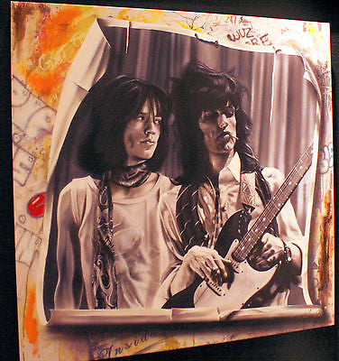 "Stickman ""No Colors Anymore, I Want Them to Turn Black"" (Mick and Keith) Limited Edition Canvas Giclee"