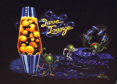 "Michael Godard ""Lava Lounge"" Limited Edition Canvas Giclee"