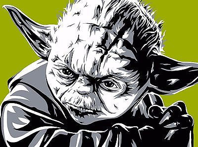 "Allison Lefcort Star Wars ""Yoda"" Limited Edition Canvas Giclee"