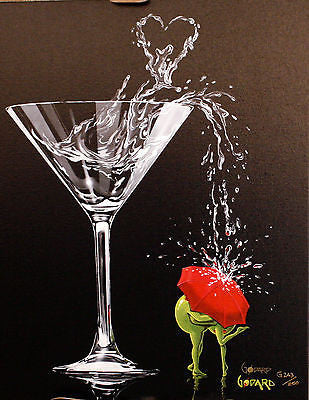 "Michael Godard - ""Raining romance"" Limited Edition Canvas Giclee - 17"" by 22"" - Art Center Gallery"