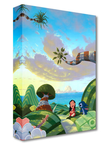 "Michael Provenza Disney ""A Tropical Idea"" Limited Edition Canvas Giclee"