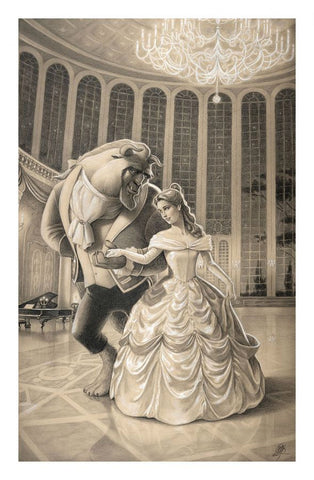 "Edson Campos Disney ""A Dance with Beauty"" Limited Edition Paper Giclee"