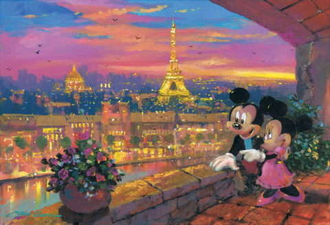 "James Coleman Disney ""A Paris Sunset"" Limited Edition Canvas Giclee"