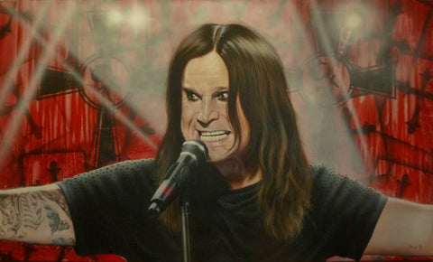"Stickman ""Ain't No Messiah, Just Your Pariah"" (Ozzy Osbourne) Limited Edition Canvas Giclee"