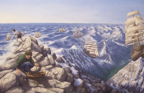 "Rob Gonsalves "" Alpine Navigation"" Giclée on Paper 7"" h x 14"" w Limited 300 -Art Center Gallery www.shopartcenter.com  1-866-254-6523"