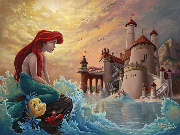 "Jared Franco Disney ""Ariel's Daydream"" Limited Edition Canvas Giclee"