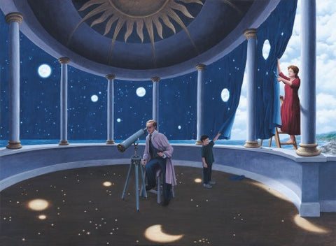 "Rob Gonsalves Rob Gonsalves "" Astral Projections "" Giclée on Paper 8.5 x 10.5"" Limited 295 Paper and Canvas Giclee"