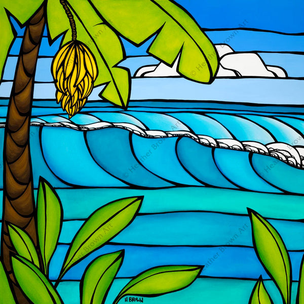 "Heather Brown ""Banana Tree"" Limited Edition Canvas Giclee"