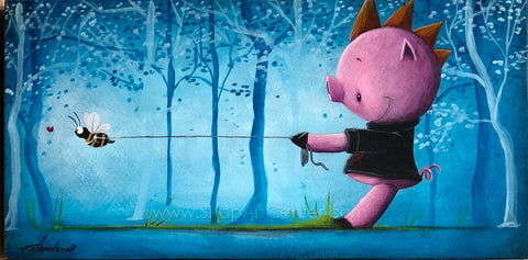 "Fabio Napoleoni ""Beezy Bee"" Original Acrylic on Wood"