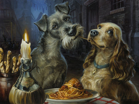 "Heather Theurer Disney ""Bella Notte"" Limited Edition Canvas Giclee"