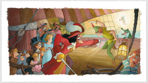 "Toby Bluth Disney ""Blast You, Pan!"" Limited Edition Paper Giclee"