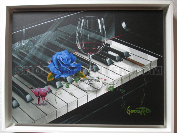 "Michael Godard ""Blue Moon Rose"" Original on Canvas"