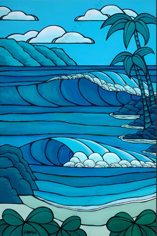 "Heather Brown ""Blue Waimea"" Limited Edition Canvas Giclee"
