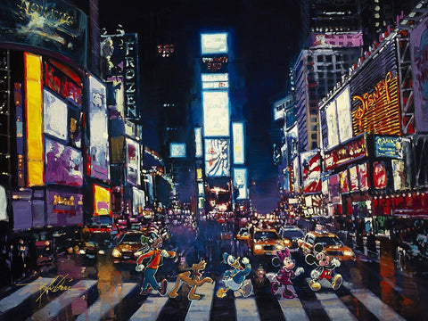 "Rodel Gonzalez Disney ""Bright Lights of Manhattan"" Limited Edition Canvas Giclee"