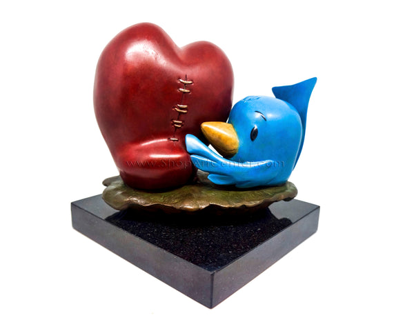 "Fabio Napoleoni ""Blu Loves You"" Bronze Statue"
