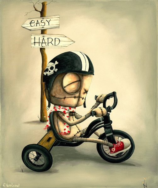 "Fabio Napoleoni-  ""Outcast (Itty Bitty) "" - Limited Edition SN 225 - 10 x 12 Paper - Art Center Gallery"