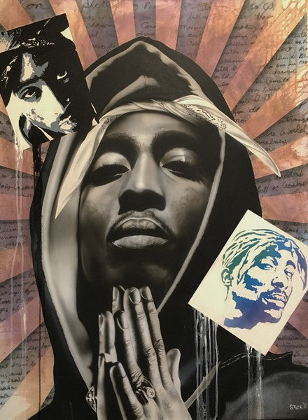 "Stickman ""Can You Picture my Prophecy"" (Tupac Shakur) Limited Edition Canvas Giclee"