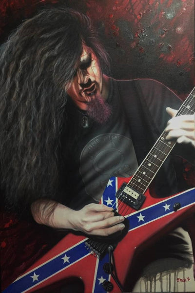 "Stickman ""Can You Hear the Violins Playin Your Song"" (Dimebag Darrel) Limited Edition Canvas Giclee"
