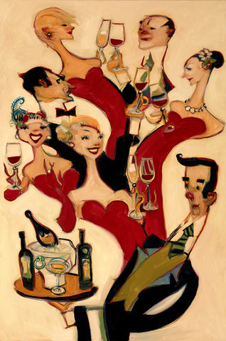 "Clifford Bailey ""Champagne and Shiraz"" Limited Edition Canvas Giclee"