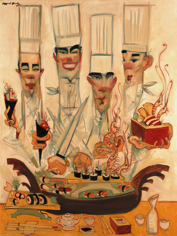 "Clifford Bailey ""Sushi Gen"" Limited Edition Canvas Giclee"