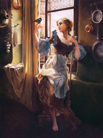 "Heather Edwards Disney ""Cinderella's New Day"" Limited Edition Canvas Giclee"
