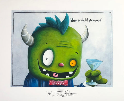 "Fabio Napoleoni Aka Danny Ocean ""Mr. Fancy Pants "" Gallery AF Paper 14.5"" x 16.5""  Ed of  99"