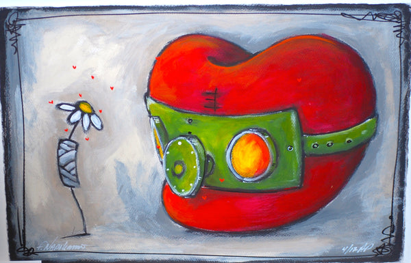 "Fabio Napoleoni- "" Better Days Ahead "" - Limited Edition AP 30.5 by 23.5""- Paper Giclee Print. - Art Center Gallery"