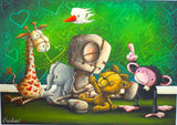 "Fabio Napoleoni-  ""Best Friends Forever "" - Size 28 by 24  Paper Giclee - Art Center Gallery"