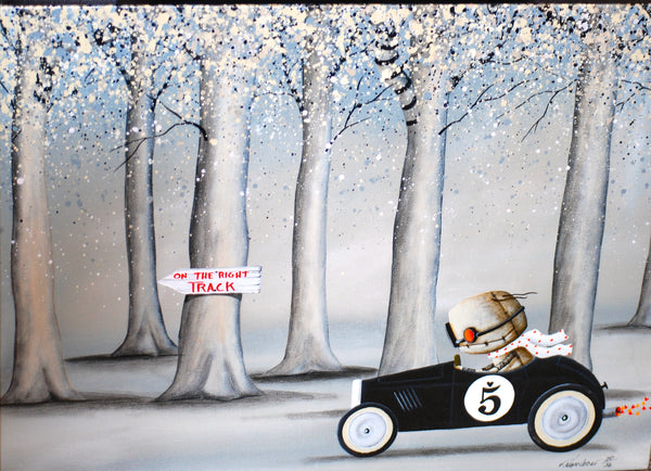 "Fabio Napoleoni ""On the Right Track"" Limited Edition Canvas Giclee"