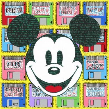 "Tennessee Loveless Disney ""Data World Exe"" Limited Edition Canvas Giclee"