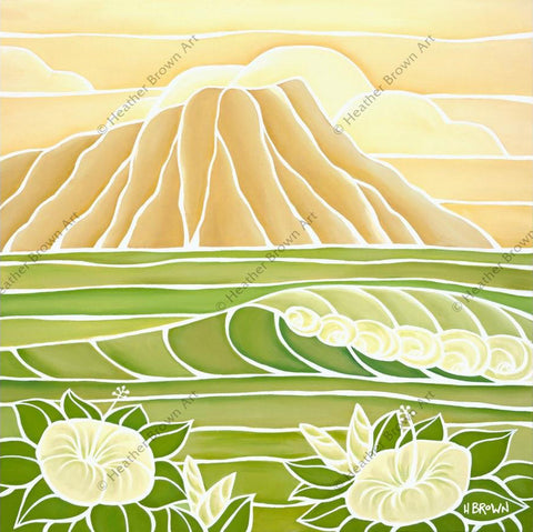 "Heather Brown ""Diamond Head Sunrise"" Limited Edition Canvas Giclee"