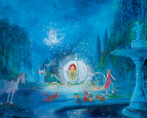 "Harrison Ellenshaw Disney ""A Dream Is a Wish Your Heart Makes"" Limited Edition Canvas Giclee"