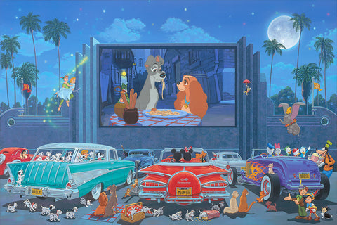 "Manuel Hernandez Disney ""A Night and the Movies"" Limited Edition Canvas Giclee"