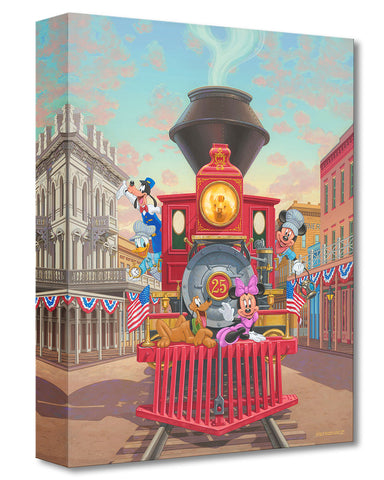 "Manuel Hernandez Disney ""All Aboard Engine 25"" Limited Edition Canvas Giclee"