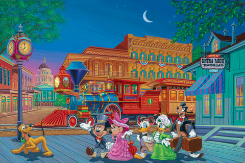 "Manuel Hernandez Disney ""Arriving in Style"" Limited Edition Lithograph on Paper"