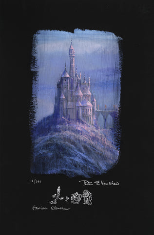 "Peter and Harrison Ellenshaw Disney ""Beauty and the Beast Castle"" Limited Edition Canvas Giclee"
