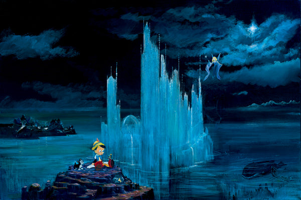 "Peter and Harrison Ellenshaw Disney ""Blue Castle"" Limited Edition Canvas Giclee"