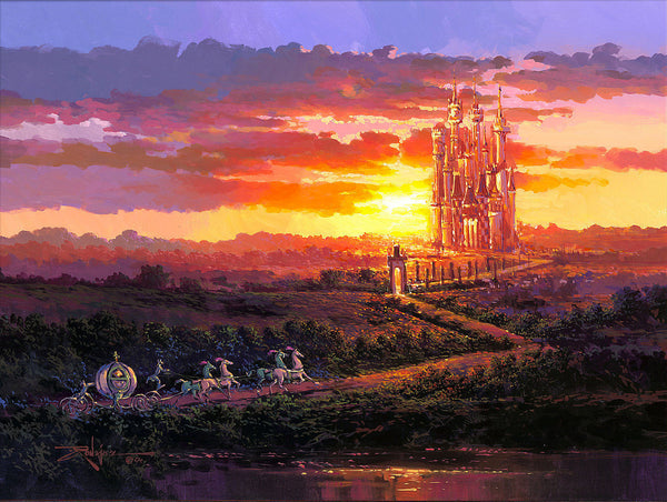 "Rodel Gonzalez Disney ""Castle at Sunset"" Limited Edition Canvas Giclee"