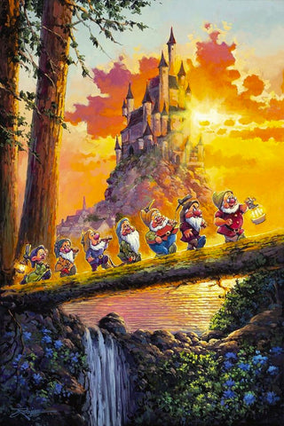"Rodel Gonzalez Disney ""Castle on the Horizon"" Limited Edition Canvas Giclee"