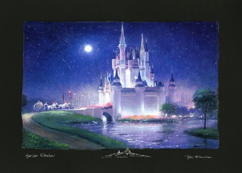 "Peter and Harrison Ellenshaw Disney ""Cinderella's Grand Arrival"" Limited Edition Paper"