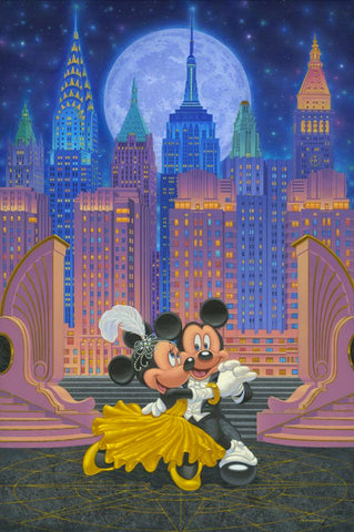 "Manuel Hernandez Disney ""Dancing Under the Stars"" Limited Edition Canvas Giclee"