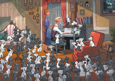 "Rodel Gonzalez Disney ""Family Gathering"" Limited Edition Canvas Giclee"