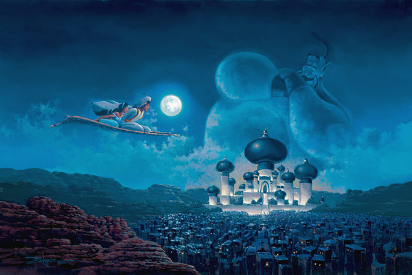 "Rodel Gonzalez Disney ""Flight Over Agrabah"" Limited Edition Canvas Giclee"