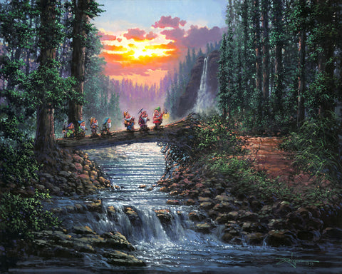 "Rodel Gonzalez Disney ""Forest Bridge"" Limited Edition Canvas Giclee"