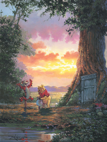"Rodel Gonzalez Disney ""Good Morning Pooh"" Limited Edition Canvas Giclee"