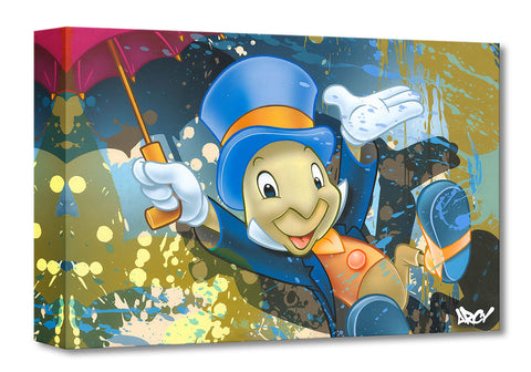 "Arcy Disney ""Jiminy Cricket"" Limited Edition Canvas Giclee"