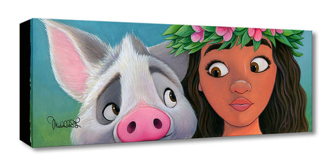 "Michelle St. Laurent Disney ""Moana's Sidekick"" Limited Edition Canvas Giclee"