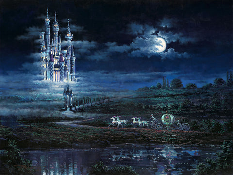 "Rodel Gonzalez Disney ""Moonlit Castle"" Limited Edition Canvas Giclee"