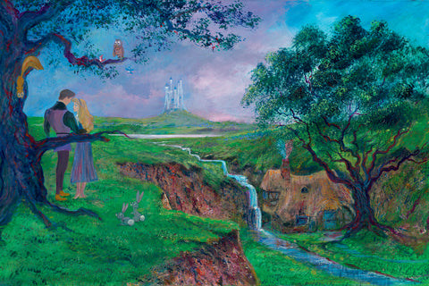 "Peter and Harrison Ellenshaw Disney ""Once Upon a Dream"" Limited Edition Canvas Giclee"
